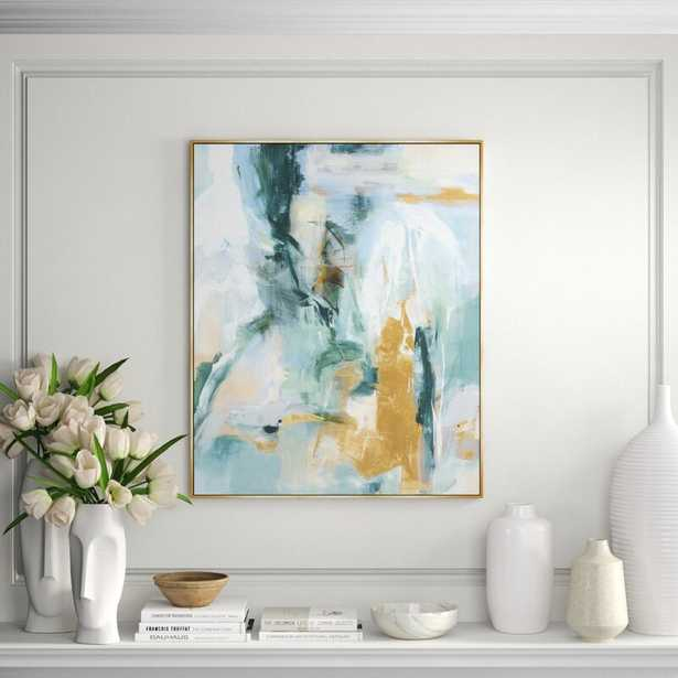 """Chelsea Art Studio 'Quiet Water' By Giselle Kelly - Picture Frame Painting Print on Canvas Size: 38.5"""" H x 31.5"""" W x 1.5"""" D - Perigold"""