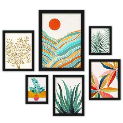 Modern Tropical - 6 Piece Picture Frame Print - Wayfair