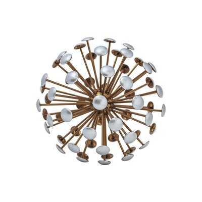 Metal Round Sea Urchin Ball with Edges Scuplture - Wayfair