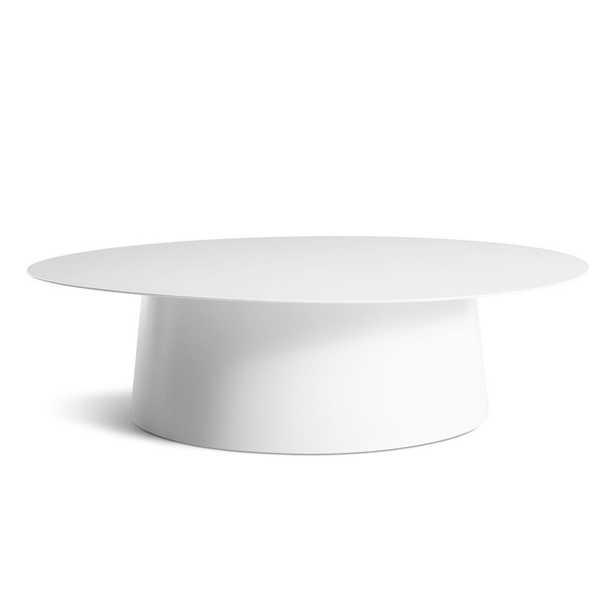 """Blu Dot Circula Large Coffee Table Color: White, Size: 13"""" H x 48"""" L x 48"""" W - Perigold"""