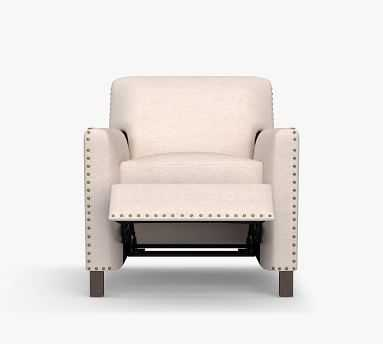 Howard Upholstered Recliner with Bronze Nailheads, Polyester Wrapped Cushions - Pottery Barn