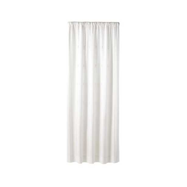 """Eyelet White Curtain Panel 50"""" x 96"""" - Crate and Barrel"""