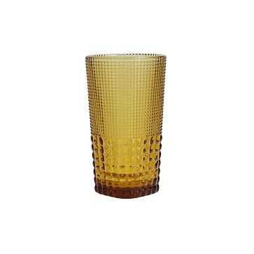 Malcolm Amber Iced Beverage Glass, 15 oz., Set of 6 - West Elm