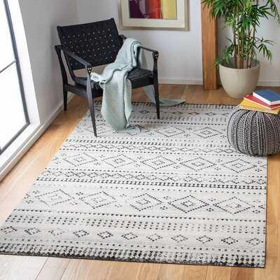 Solange Southwestern Gray/Ivory Indoor / Outdoor Area Rug - Birch Lane