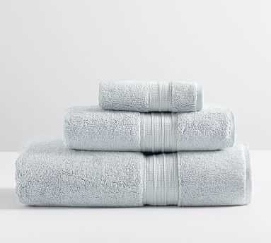 Hydrocotton Organic Bath, Hand, & Washcloth Towels, Set of 3, Porcelain Blue - Pottery Barn