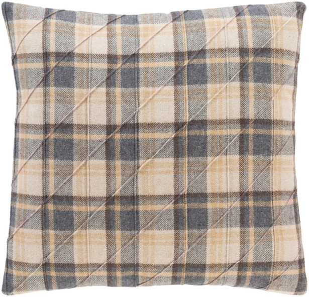 """Huxley Pillow Cover, 22""""x 22"""", Taupe - Cove Goods"""