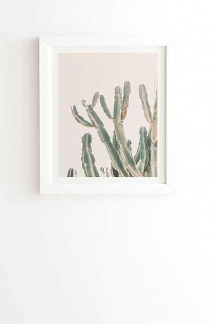 "Sunrise Cactus by Sisi and Seb - Framed Wall Art Basic White 8"" x 9.5"" - Wander Print Co."
