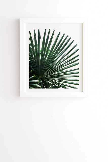 "Palm Leaves 13 by Mareike Boehmer - Framed Wall Art Basic White 20"" x 20"" - Wander Print Co."