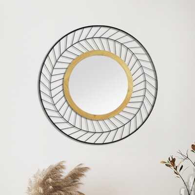Alcaria Marie Wood and Metal Wall Mirror - Wayfair