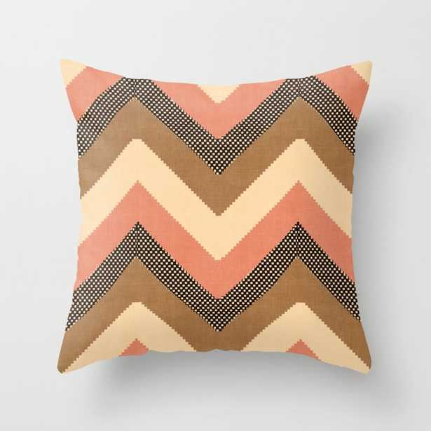 """Willow In Peach Multi Couch Throw Pillow by Becky Bailey - Cover (20"""" x 20"""") with pillow insert - Outdoor Pillow - Society6"""