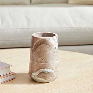 Pink Marble Vase, Small - West Elm