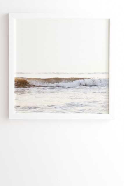 "Minimalist Wave by Bree Madden - Framed Wall Art Basic White 30"" x 30"" - Wander Print Co."