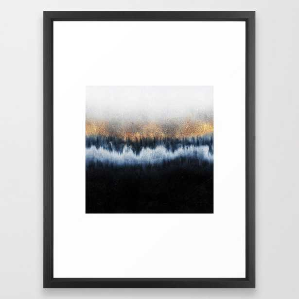 Golden Horizon Framed Art Print by Elisabeth Fredriksson - Vector Black - MEDIUM (Gallery)-20x26 - Society6