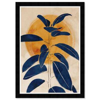 Floral and Botanical Blue Sprout Botanicals - Picture Frame Painting Print on Paper - Wayfair