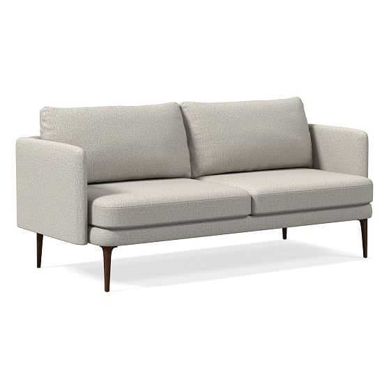 Auburn Sofa, Poly, Twill, Stone, Dark Mineral - West Elm
