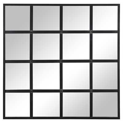 Black Wilhoit Windowpane Mirror - Wayfair