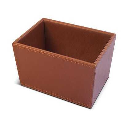Kridia Faux Leather Basket - Wayfair