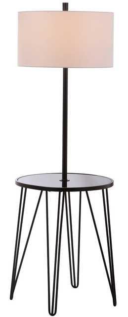 Ciro 58-Inch H Floor Lamp Side Table - Black - Arlo Home - Arlo Home
