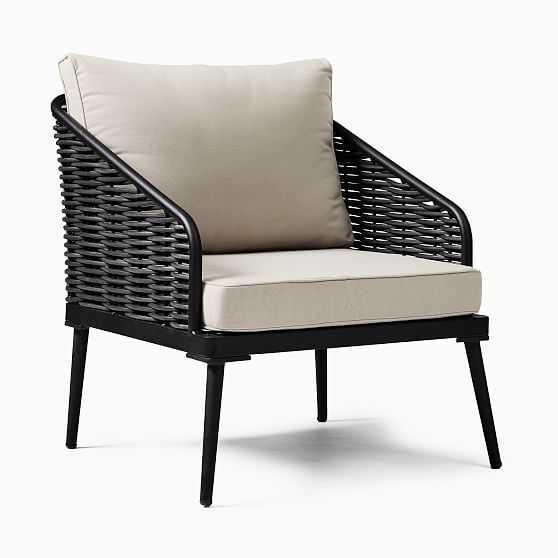 Corvo Lounge Chair, AWW, Black - West Elm