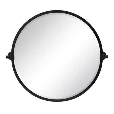 Comtemporary Vintage Round Pivot Mirror - Wayfair