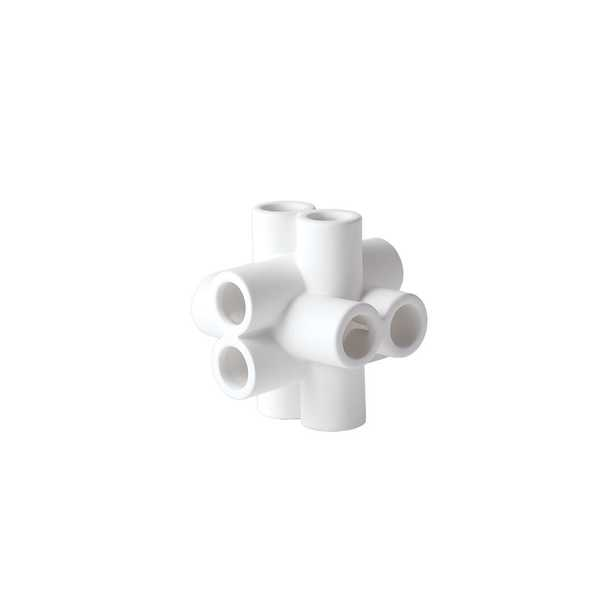 """Global Views Cube Tube Sculpture-Matte White"" - Perigold"