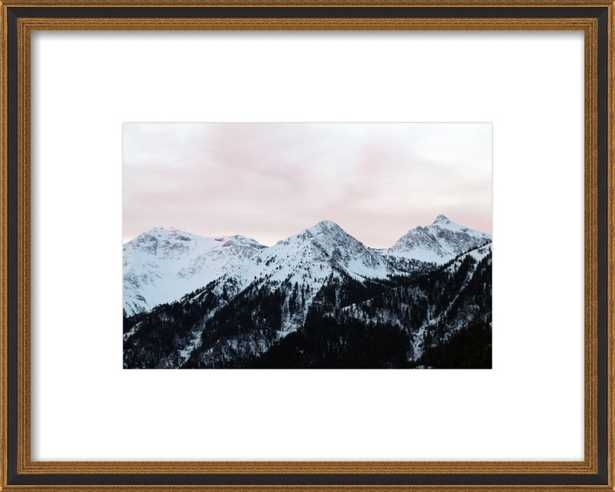 Pink Sky and Mountains in the morning by Lucy Snowe for Artfully Walls - Artfully Walls