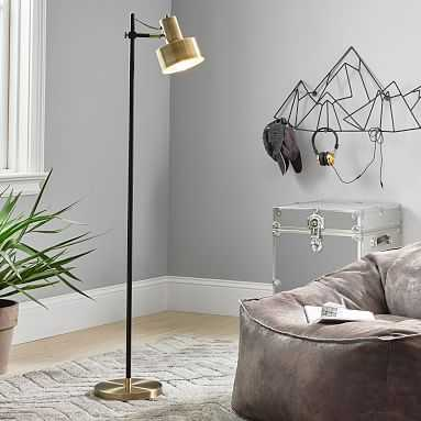 Stanton Floor Lamp, Antique Brass - Pottery Barn Teen