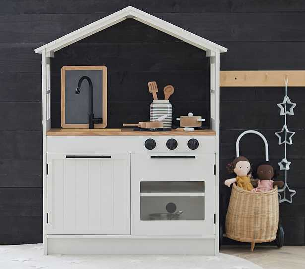 Farmhouse Play Kitchen, Simply White, In-Home Delivery - Pottery Barn Kids