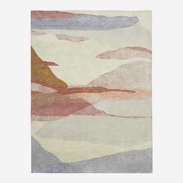 Tonal Landscape Rug, 8'x10', Calm Brown - West Elm