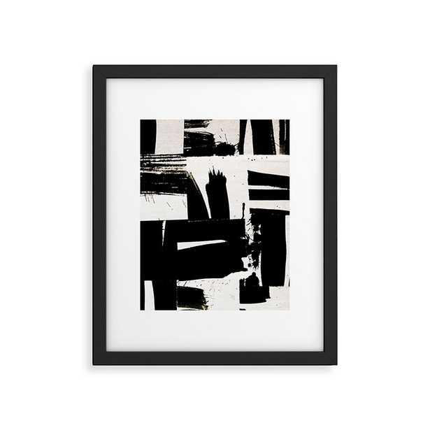 "Wabi Sabi 1602 by Iris Lehnhardt, Modern Framed Art Print Black 24"" x 36"" - Studio Marcette"