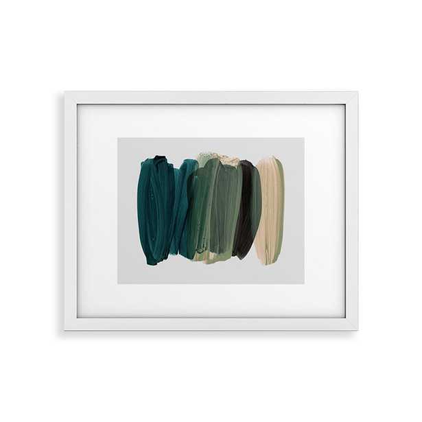 "Minimalism 81 by Iris Lehnhardt - Modern Framed Art Print White 8"" x 10"" - Wander Print Co."