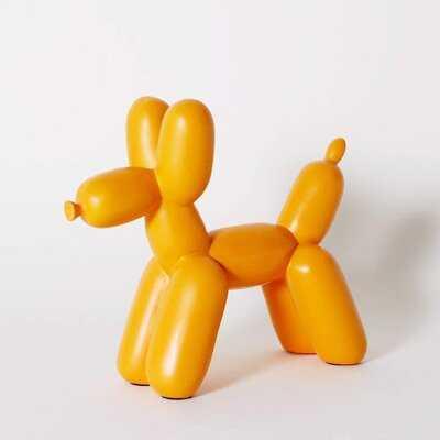 Balloon Dog Ceramic Bookend Decor And Modern Home Decor Sculpture, (orange) - Wayfair