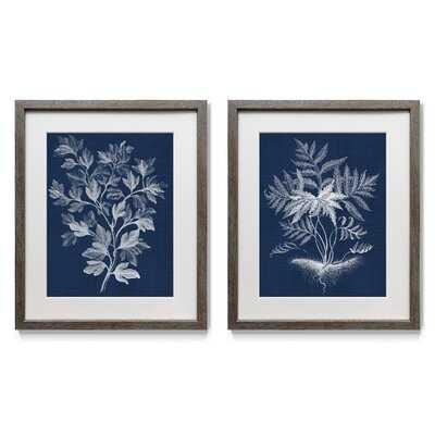 Lustr Foliage Chintz Picture Frame Print Set on Paper, Set of 2 - Wayfair