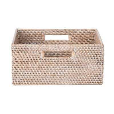 Coiled Storage Rattan Basket - Wayfair