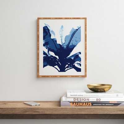 Bananarama Navy by Deb Haugen - Picture Frame Graphic Art Print on Wood - AllModern