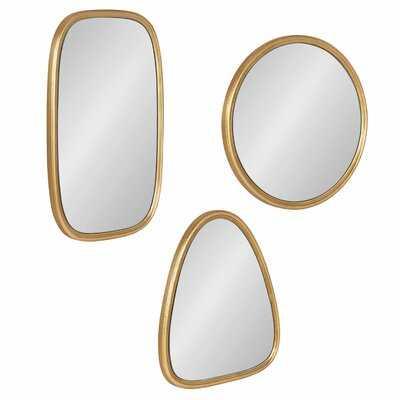 3 Piece Stuart Modern Accent Mirror Set - Wayfair
