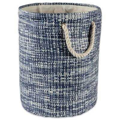 Paper Tweed Round Fabric Bin - Wayfair