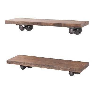 Ternes 2 Piece Solid Wood Floating Shelf - Wayfair