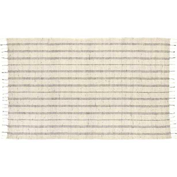 Geordie White Cotton Rug 5'x8' - CB2
