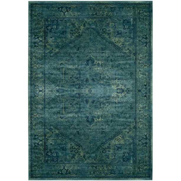 Vintage Turquoise 9 ft. x 12 ft. Area Rug - Home Depot