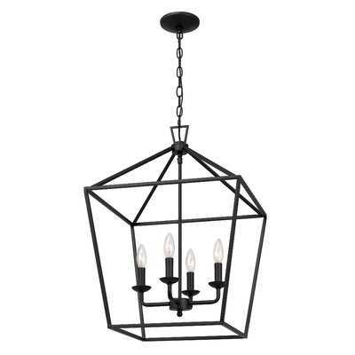 Duquesne 4 - Light Lantern Geometric Chandelier - Wayfair