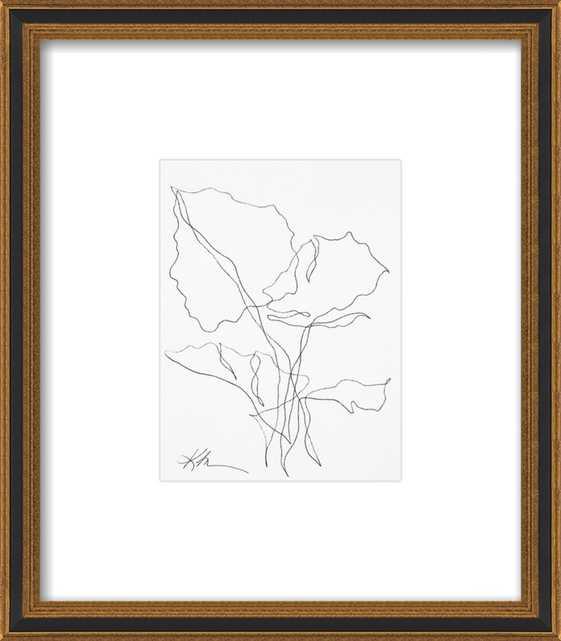 Ink Botanical 4 by Kellie Lawler for Artfully Walls - Artfully Walls