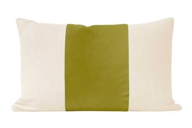 """The Little Lumbar :: PANEL Studio Velvet // Chartreuse - 12"""" X 18"""" - Little Design Company"""
