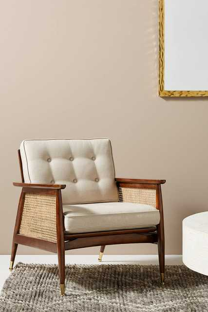 Nadia Caned Accent Chair - Anthropologie