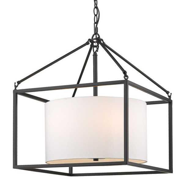 Golden Lighting Manhattan 5-Light Chandelier in Matte Black - Home Depot