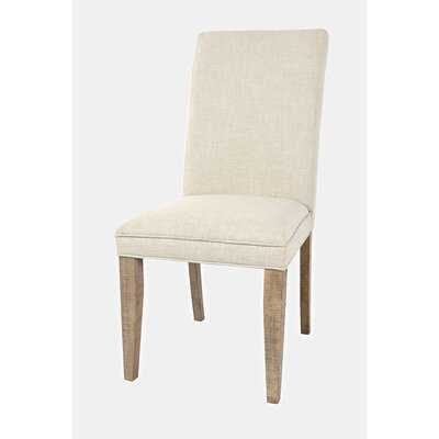 Laron Upholstered Side Chair in Cream (Set of 2) - Wayfair