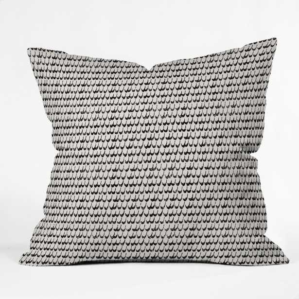 """Boho Scallop by Holli Zollinger - Outdoor Throw Pillow 18"""" x 18"""" - Wander Print Co."""