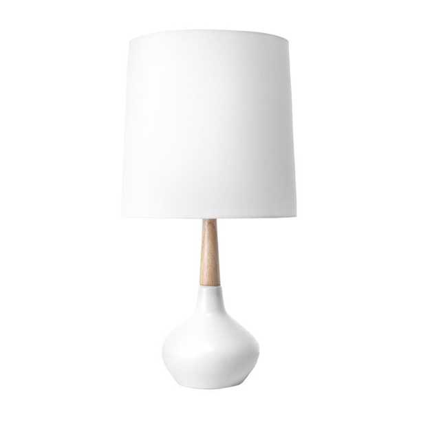 nuLOOM 25 in. White Layton Ceramic Indoor Table Lamp - Home Depot