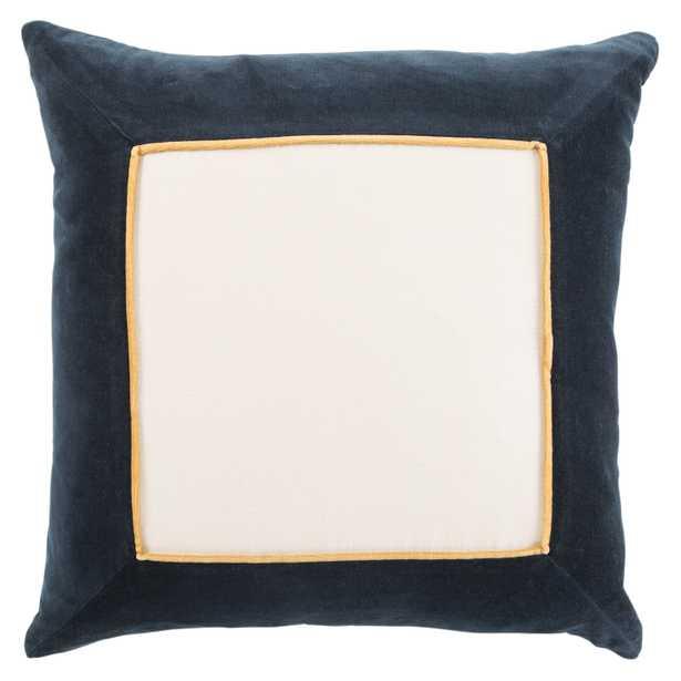 """Design (US) Navy 22""""X22"""" Pillow Indoor - Collective Weavers"""