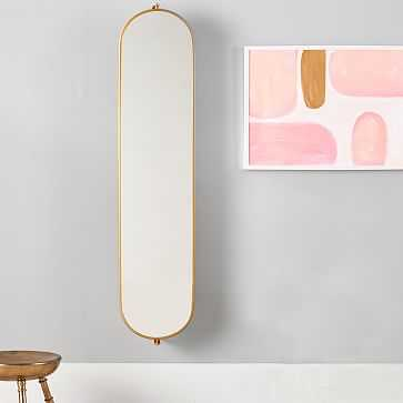 Swivel Mirror With Pinboard, Gold, WE Kids - West Elm